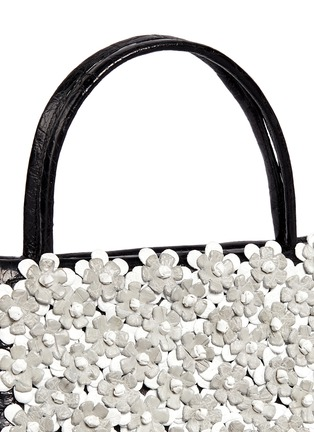Detail View - Click To Enlarge - Nancy Gonzalez - 'Small Wallis' flower appliqué crocodile leather bag