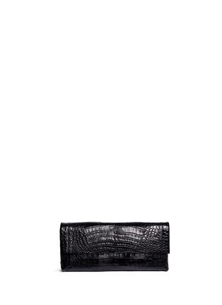 Main View - Click To Enlarge - Nancy Gonzalez - 'Gotham' crocodile leather shoulder strap clutch