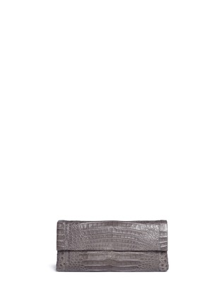 Main View - Click To Enlarge - Nancy Gonzalez - 'Gotham' crocodile leather shoulder strap clutch