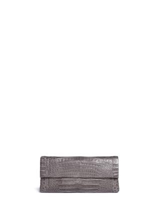 Nancy Gonzalez-'Gotham' crocodile leather shoulder strap clutch