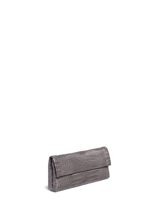 Figure View - Click To Enlarge - Nancy Gonzalez - 'Gotham' crocodile leather shoulder strap clutch