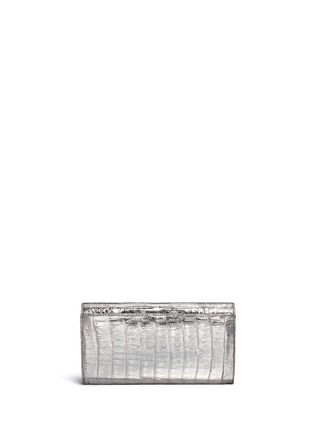 Nancy Gonzalez - Embellished metallic crocodile leather clutch