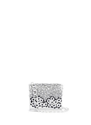 Nancy Gonzalez-'Gio' flower appliqué crocodile leather crossbody bag