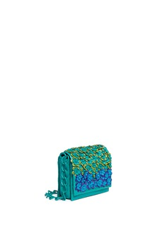 Nancy Gonzalez 'Gio' flower appliqué crocodile leather crossbody bag