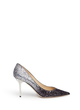 Main View - Click To Enlarge - Jimmy Choo - 'Agnes' glitter dégradé pumps
