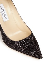 'Abel' coarse glitter pumps