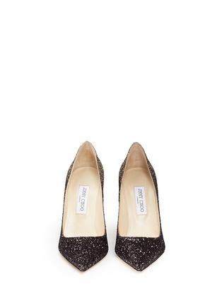 Jimmy Choo - 'Abel' coarse glitter pumps