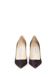 Jimmy Choo 'Abel' coarse glitter pumps