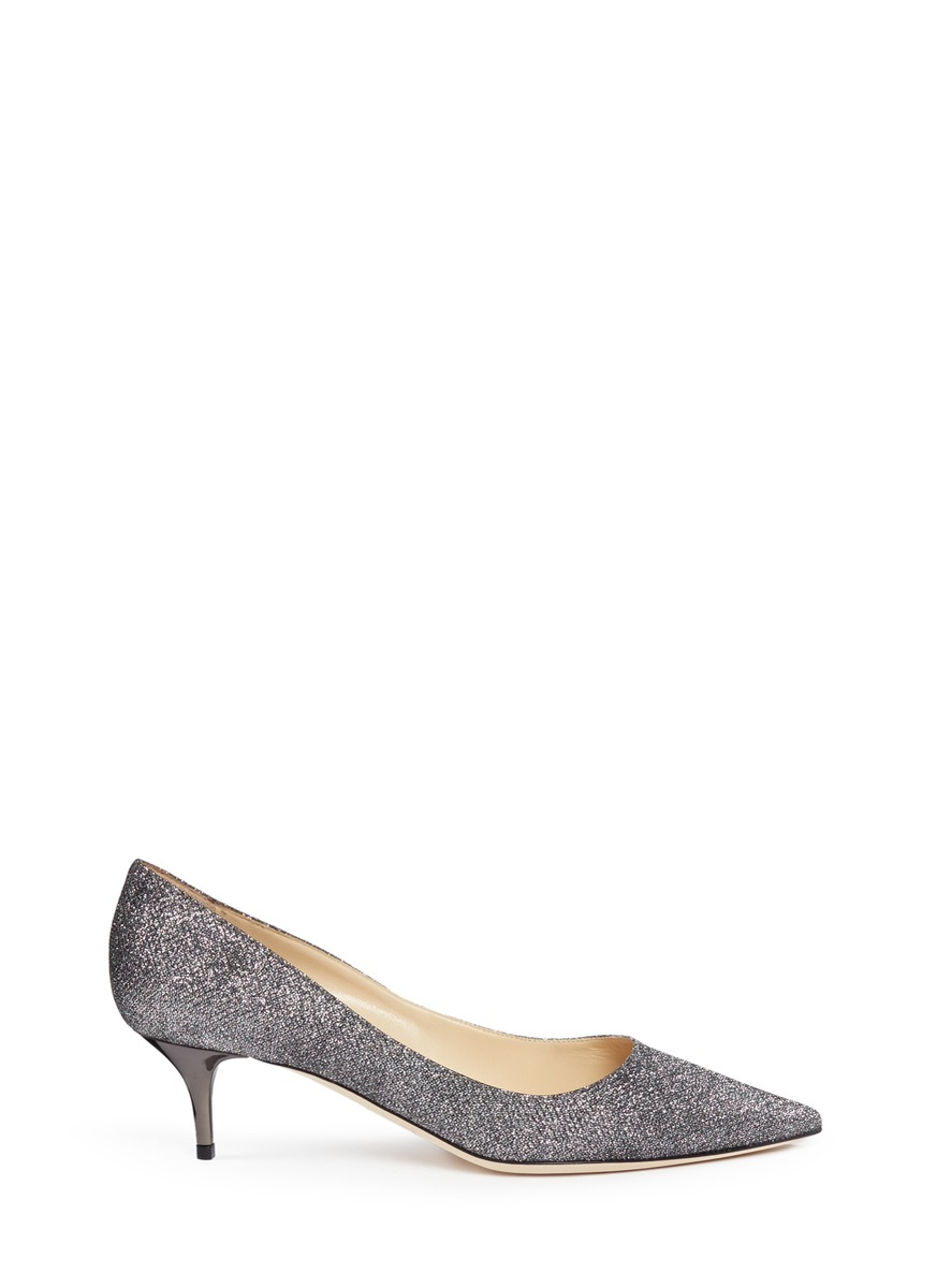 Aza lamé glitter pumps by Jimmy Choo