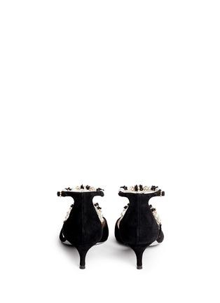 背面 - 点击放大 - RENÉ CAOVILLA - 人造珍珠仿水晶花卉搭带尖头低跟鞋