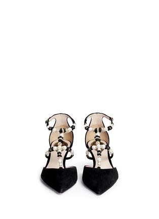 正面 -点击放大 - RENÉ CAOVILLA - 人造珍珠仿水晶花卉搭带尖头低跟鞋