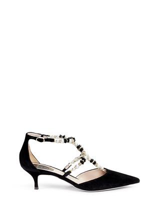 首图 - 点击放大 - RENÉ CAOVILLA - 人造珍珠仿水晶花卉搭带尖头低跟鞋