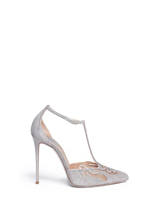 Main View - Click To Enlarge - René Caovilla - Cutout strass pavé suede pumps