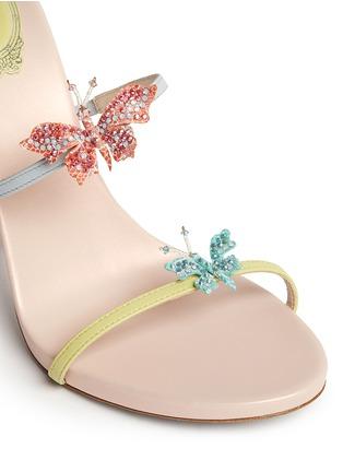 Detail View - Click To Enlarge - René Caovilla - Butterfly appliqué leather spring coil sandals