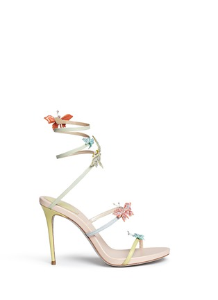Main View - Click To Enlarge - René Caovilla - Butterfly appliqué leather spring coil sandals
