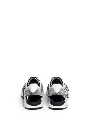 背面 - 点击放大 - RENÉ CAOVILLA - 小牛皮拼接蕾丝低筒运动鞋