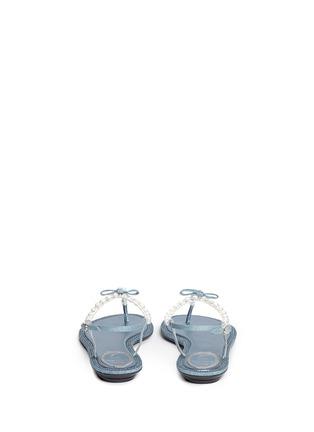 背面 - 点击放大 - RENÉ CAOVILLA - 人造珍珠仿水晶装饰平底凉鞋