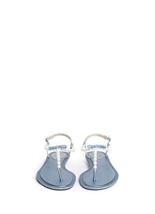 正面 -点击放大 - RENÉ CAOVILLA - 人造珍珠仿水晶装饰平底凉鞋