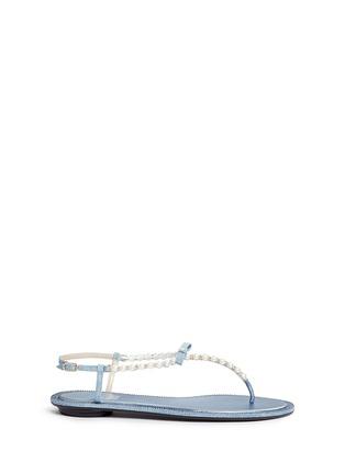 首图 - 点击放大 - RENÉ CAOVILLA - 人造珍珠仿水晶装饰平底凉鞋