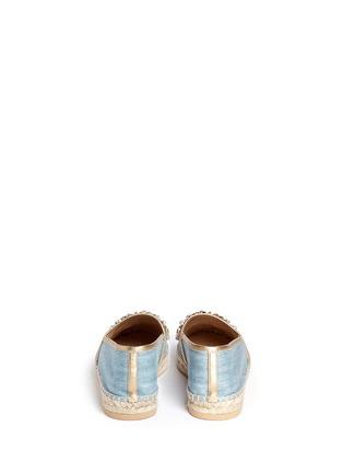 背面 - 点击放大 - RENÉ CAOVILLA - 仿水晶点缀牛仔草编平底鞋