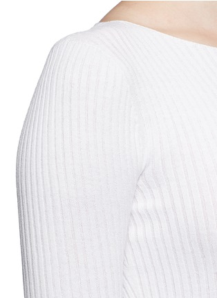 Detail View - Click To Enlarge - Theory - 'Veena' rib knit sweater