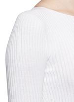 'Veena' rib knit sweater