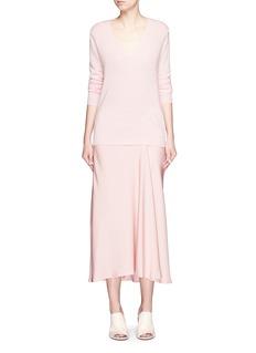 THEORY'Maity TS' asymmetric midi skirt