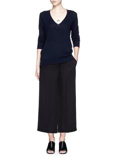 THEORY'Raoka W' cropped wide leg crepe pants