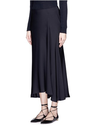 Front View - Click To Enlarge - Theory - 'Maity TS' asymmetric midi skirt
