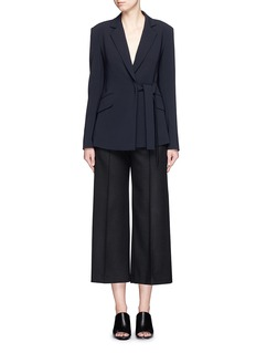 THEORY'Nibel' waist strap stretch crepe blazer
