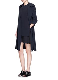 THEORY'Malkan' ruffle hem double layer crepe dress
