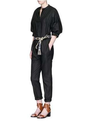 Figure View - Click To Enlarge - Isabel Marant - Collarless cotton poplin jumpsuit
