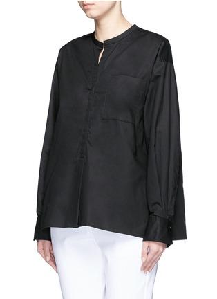 正面 -点击放大 - ISABEL MARANT  - 褶裥纯棉府绸上衣