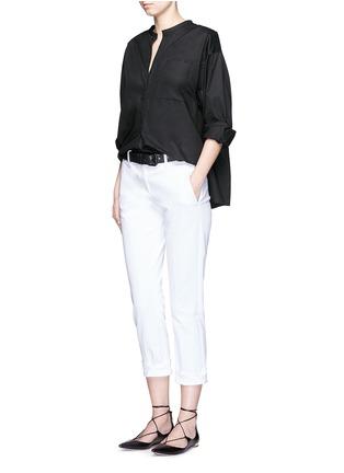 模特儿示范图 - 点击放大 - ISABEL MARANT  - 褶裥纯棉府绸上衣