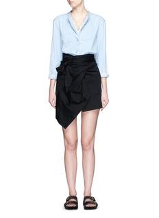 Isabel MarantT-shirt wrap bow cotton jersey skirt