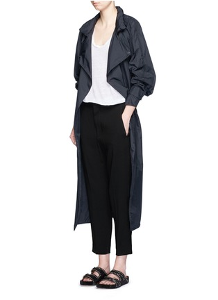 Figure View - Click To Enlarge - Isabel Marant - Crepe suiting capri pants
