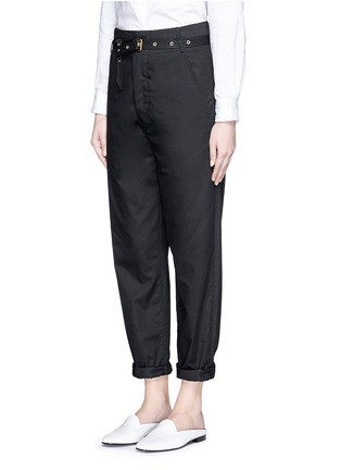 Front View - Click To Enlarge - Isabel Marant - Metal grommet belt cropped pants