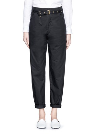 Main View - Click To Enlarge - Isabel Marant - Metal grommet belt cropped pants