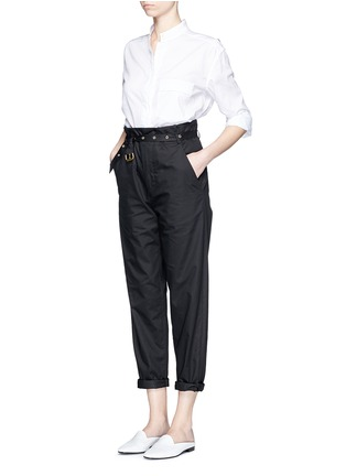 Figure View - Click To Enlarge - Isabel Marant - Metal grommet belt cropped pants