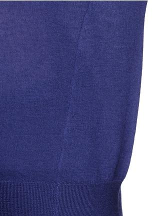 细节 - 点击放大 - ISABEL MARANT  - 单色羊绒混丝针织衫
