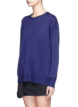 正面 -点击放大 - ISABEL MARANT  - 单色羊绒混丝针织衫