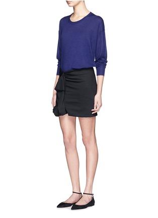 模特儿示范图 - 点击放大 - ISABEL MARANT  - 单色羊绒混丝针织衫