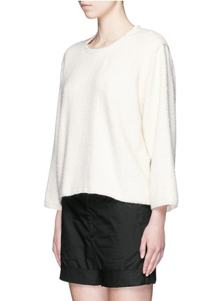Front View - Click To Enlarge - Isabel Marant - Oversize alpaca frayed sweatshirt
