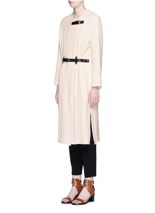 Front View - Click To Enlarge - Isabel Marant - Quilted buckled long coat