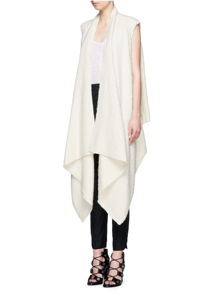 Front View - Click To Enlarge - Isabel Marant - 'Felicia' alpaca drape long vest
