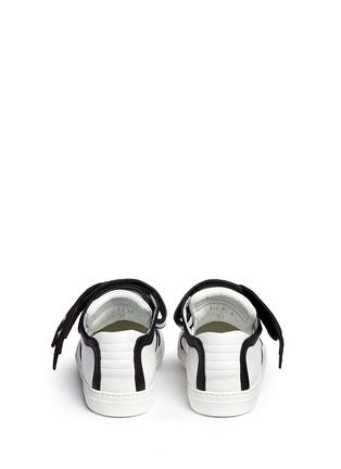 Back View - Click To Enlarge - Pierre Hardy - 'Oh Roy' eye strap leather mid top sneakers