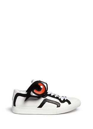 Main View - Click To Enlarge - Pierre Hardy - 'Oh Roy' eye strap leather mid top sneakers