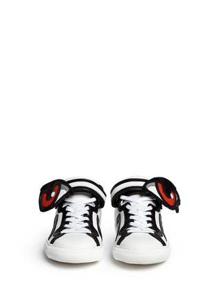 Figure View - Click To Enlarge - Pierre Hardy - 'Oh Roy' eye strap leather mid top sneakers