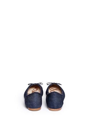 背面 - 点击放大 - SAM EDELMAN - 牛仔蝴蝶结芭蕾平底鞋