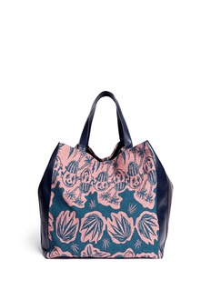 Paul Smith Botanical art garden jacquard leather tote